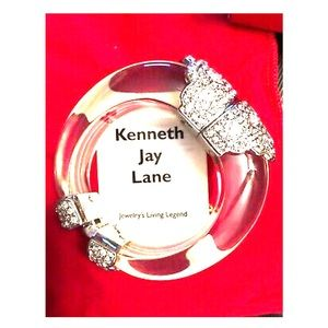 Kenneth Jay Lane Beautiful Crystal Lucite Cuff